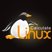 Calculate Linux Logo black